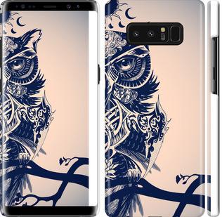 Чехол на Samsung Galaxy Note 8 Узорчатая сова