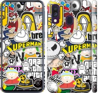 Чехол на Samsung Galaxy A40 2019 A405F Popular logos