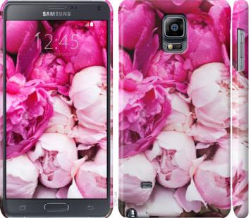 Чехол на Samsung Galaxy Note 4 N910H Розовые пионы