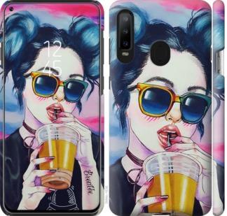 Чехол на Samsung Galaxy A8S Арт-девушка в очках