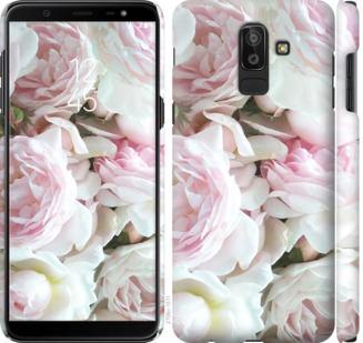 Чехол на Samsung Galaxy J8 2018 Пионы v2