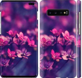 Чехол на Samsung Galaxy S10 Plus Пурпурные цветы