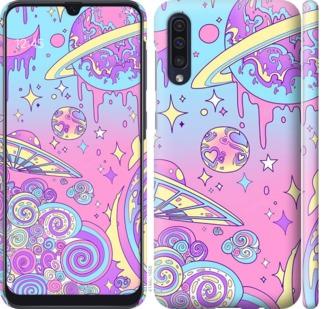 Чехол на Samsung Galaxy A50 2019 A505F Розовая галактика