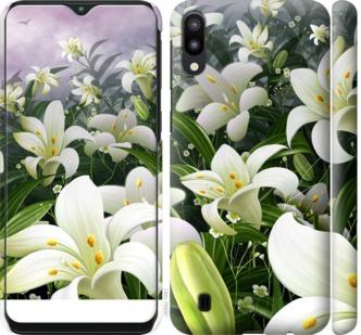 Чехол на Samsung Galaxy M10 Белые лилии
