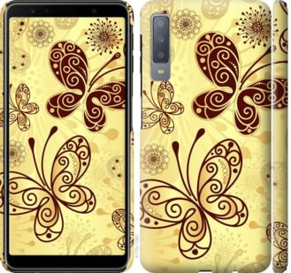 Чехол на Samsung Galaxy A7 (2018) A750F Красивые бабочки