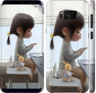 Чехол на Samsung Galaxy S8 Plus Милая девочка с зайчиком