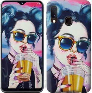 Чехол на Samsung Galaxy A20e A202F Арт-девушка в очках