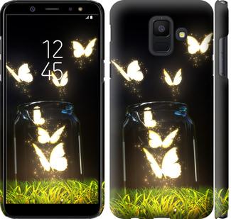 Чехол на Samsung Galaxy A6 2018 Светящиеся бабочки