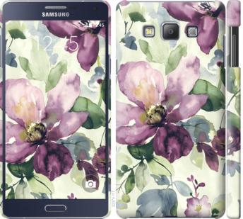 Чехол на Samsung Galaxy A7 A700H Цветы акварелью