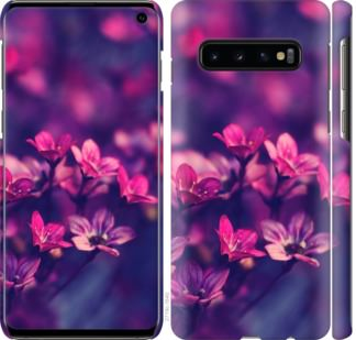 Чехол на Samsung Galaxy S10 Пурпурные цветы