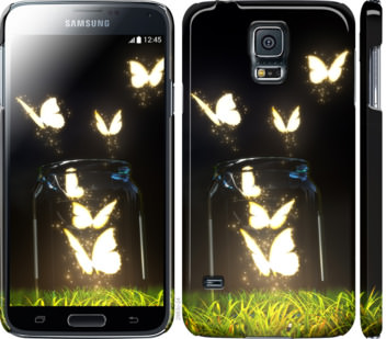 Чехол на Samsung Galaxy S5 g900h Светящиеся бабочки