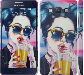 Чехол на Samsung Galaxy A5 A500H Арт-девушка в очках