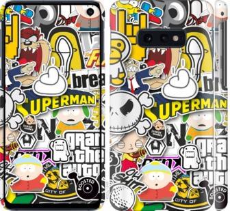 Чехол на Samsung Galaxy S10e Popular logos