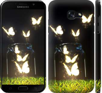 Чехол на Samsung Galaxy A5 (2017) Светящиеся бабочки