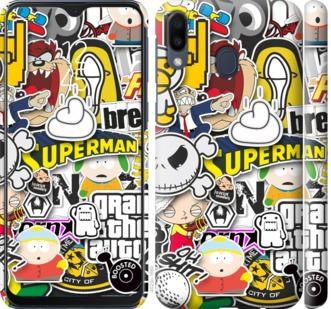 Чехол на Samsung Galaxy M20 Popular logos
