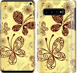 Чехол на Samsung Galaxy S10 Красивые бабочки