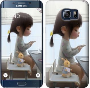 Чехол на Samsung Galaxy S6 Edge Plus G928 Милая девочка с зайчиком