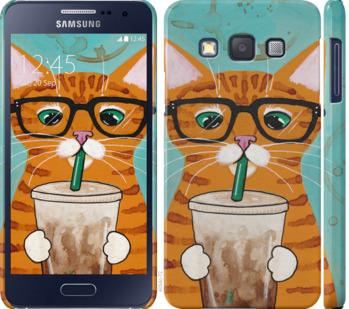 Чехол на Samsung Galaxy A3 A300H Зеленоглазый кот в очках