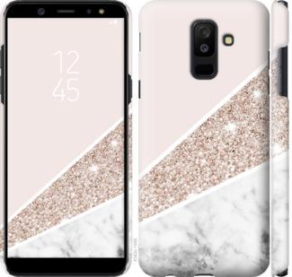Чехол на Samsung Galaxy A6 Plus 2018 Пастельный мрамор