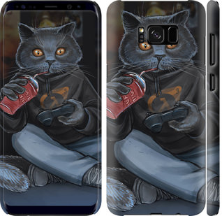 Чехол на Samsung Galaxy S8 Plus gamer cat