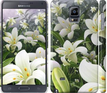 Чехол на Samsung Galaxy Note 4 N910H Белые лилии