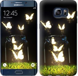 Чехол на Samsung Galaxy S6 Edge Plus G928 Светящиеся бабочки