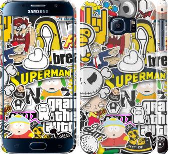 Чехол на Samsung Galaxy S6 G920 Popular logos