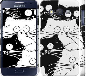 Чехол на Samsung Galaxy A3 A300H Коты v2