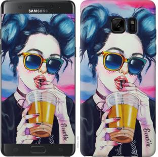 Чехол на Samsung Galaxy Note 7 Duos N930F Арт-девушка в очках