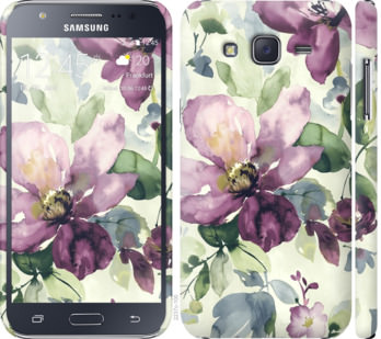 Чехол на Samsung Galaxy J5 (2015) J500H Цветы акварелью