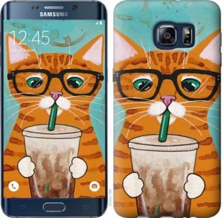 Чехол на Samsung Galaxy S6 Edge Plus G928 Зеленоглазый кот в очках