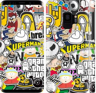 Чехол на Samsung Galaxy S9 Popular logos