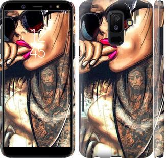 Чехол на Samsung Galaxy A6 Plus 2018 Девушка в тату