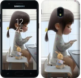 Чехол на Samsung Galaxy J3 2018 Милая девочка с зайчиком