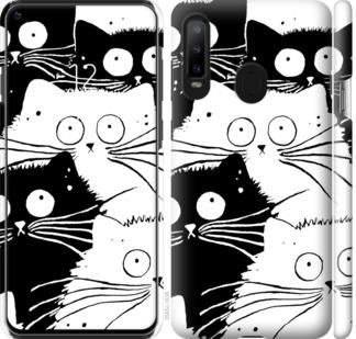 Чехол на Samsung Galaxy A8S Коты v2