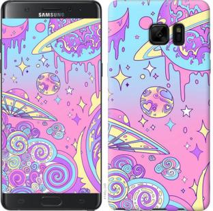 Чехол на Samsung Galaxy Note 7 Duos N930F Розовая галактика