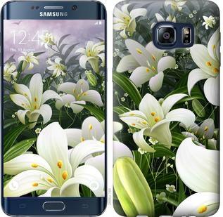 Чехол на Samsung Galaxy S6 Edge Plus G928 Белые лилии