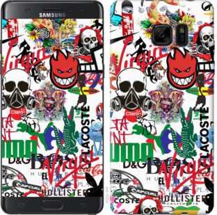 Чехол на Samsung Galaxy Note 7 Duos N930F Many different logos