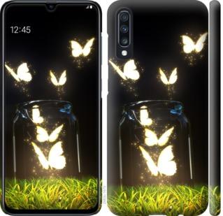 Чехол на Samsung Galaxy A70 2019 A705F Светящиеся бабочки