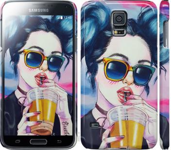 Чехол на Samsung Galaxy S5 g900h Арт-девушка в очках
