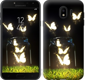 Чехол на Samsung Galaxy J4 2018 Светящиеся бабочки