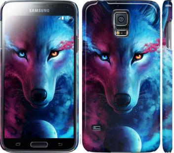 Чехол на Samsung Galaxy S5 g900h Арт-волк