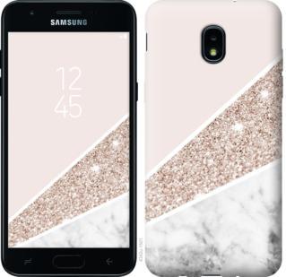 Чехол на Samsung Galaxy J3 2018 Пастельный мрамор