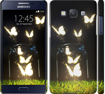 Чехол на Samsung Galaxy A5 A500H Светящиеся бабочки
