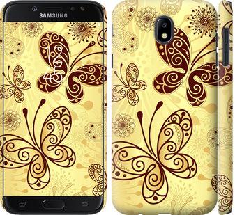 Чехол на Samsung Galaxy J7 J730 (2017) Красивые бабочки