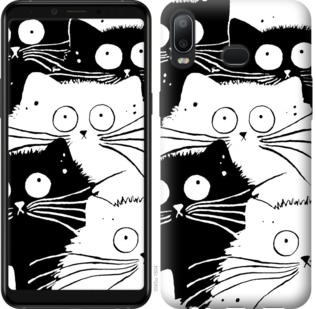 Чехол на Samsung Galaxy A6s Коты v2