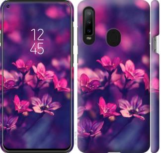 Чехол на Samsung Galaxy A8S Пурпурные цветы