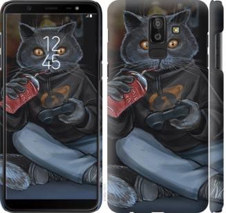Чехол на Samsung Galaxy J8 2018 gamer cat