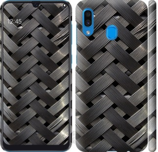 Чехол на Samsung Galaxy A20 2019 A205F Металлические фоны