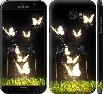 Чехол на Samsung Galaxy A7 (2017) Светящиеся бабочки